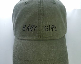 Baby Girl Adjustable Leather Strap Hat: 27 Colors Available- Drake Font Cap Mesh Breathable Inside