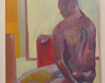 Seated Male Figure Study