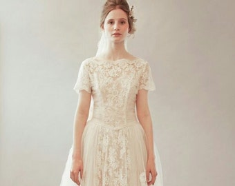 Original Vintage - Late 50's Wedding Dress - Roxy