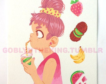Froot Original Gouache Painting