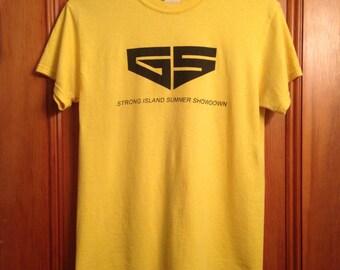 "1990s Vintage Yellow ""Stong Island Showdown"" Long Island, New York Pride T-Shirt"