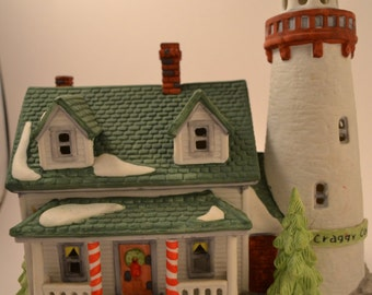 Retired Department 56  Craggy Cove Lighthouse Christmas / Holiday Village