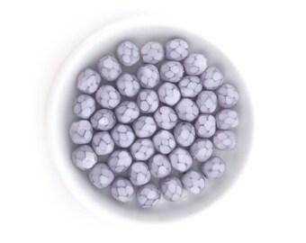6mm Lavender Purple Faceted Round Bead, Painted Bead, Czech Fire Polished, Spacer, Bulk, Wholesale, 50pcs, 1583D