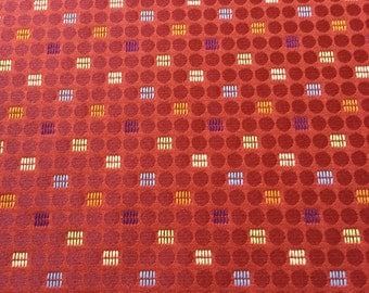 DESIGNTEX Dot-to-Dot Scarlet Upholstery Fabric - By The Yard