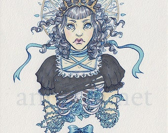 Original Art A5 Gothic marker drawing
