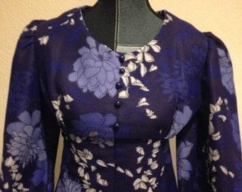 Stunning 1970,s Boho Maxi dress .