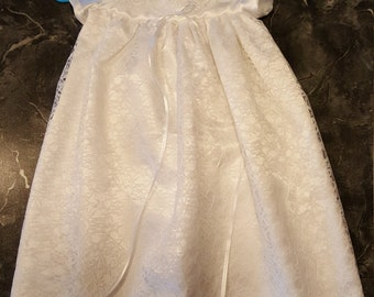 "Baptism Gown ""snowflake"""