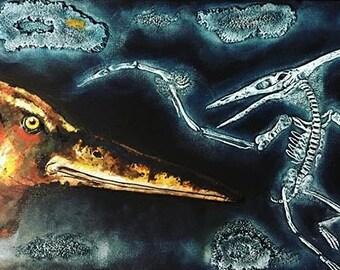 3D Dinosaur Painting Sculpture, Pterodactyl
