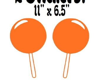 """Big Lollipops  - Two 11"""" by 6.5"""" Wall Decal Stickers"""