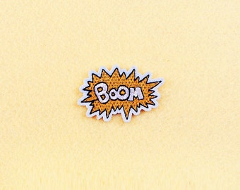 BOOM Patch - Iron on patch -Sew On patch - Embroidered Patch (Size 5.9cm x 4cm)
