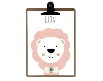 Lion poster / wall Decoration for children / the magic trailer
