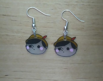 Mini earrings Pinnochio kawaii