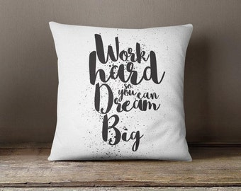 """Throw pillow with words, personalized pillow case, motivation, indoor cushion cover, modern 16"""" pillow gift for teens teens home decor P258"""