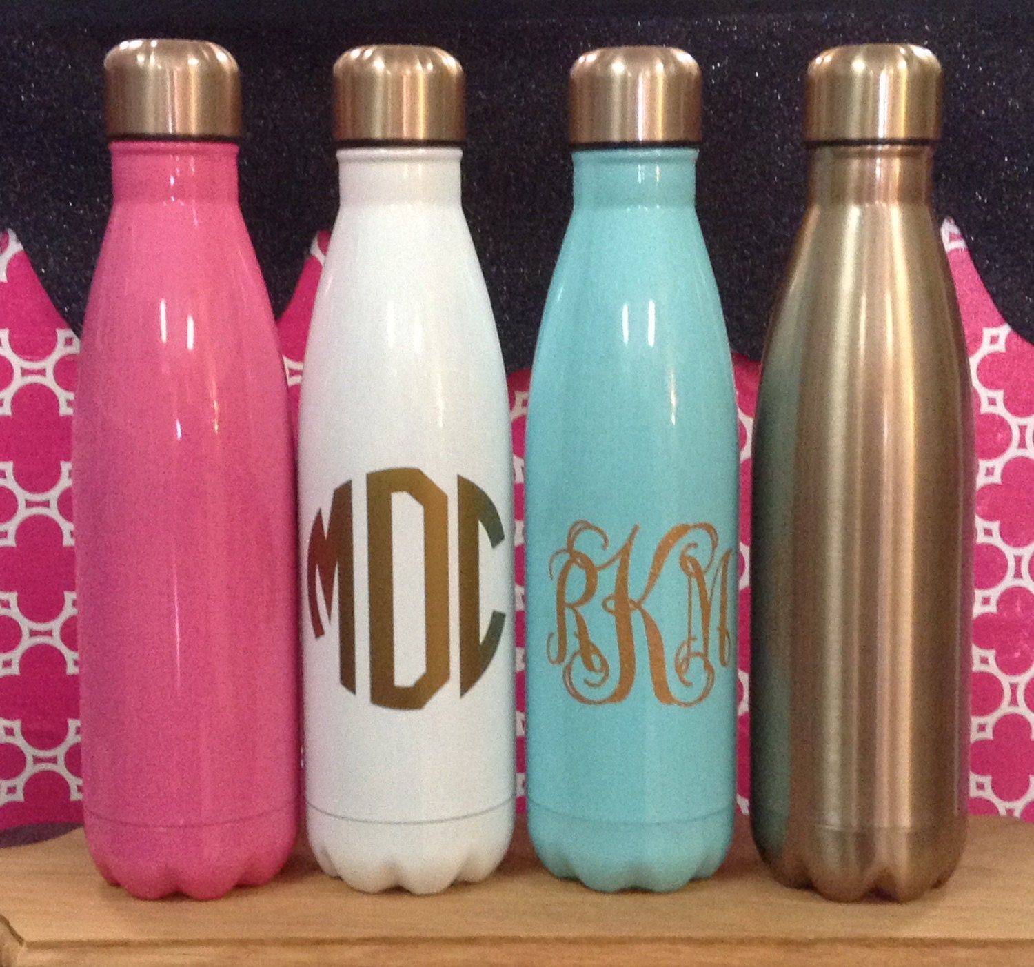 Monogrammed Stainless Steel Water Bottle 17oz Insulated