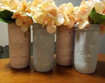 Rustic Hand-Painted Ball Jar