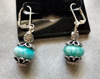 Blue Sugilite Earrings-Handmade
