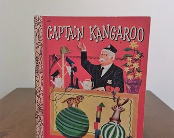 Vintage 1978 Edition of Children's Book, 'Captain Kangaroo' A Little Golden Book by Kathleen N. Daly / Illustrated  by Art Seiden