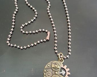 "18"" Steampunk Cogs & Gear Necklace"