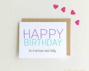 Funny Birthday Card | Happy Birthday | Birthday Card for Her| Birthday Card for Sister| Funny Cards |  Birthday Card for Mom {SKU: FC140}