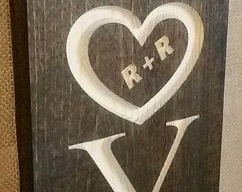 Custom Engraved Love Sign