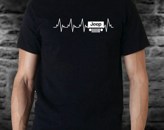 Jeep heartbeat  T Shirts