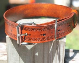 Large/Extra Large Leather Dog Collar