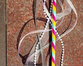 Wands/Fairy wand/Party wand/Princess wand/ Wand decor/Handmade/ pink,blue,yellow,ribbon wand /Party favors/ Girls gift ideas/Centerpieces