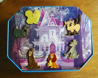 Lady and the Tramp Pin set Vintage