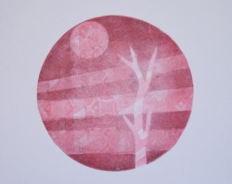 Untitled (sun and solo tree landscape)