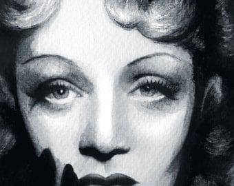 Marlene Dietrich - Art Print