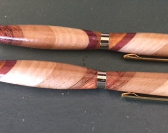 Handmade Wooden Pen and Pencil Set