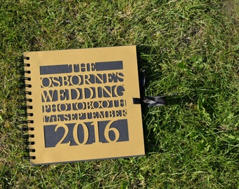 Personalised wedding / party guest / memory book / photo album for wedding, birthdays, hen party