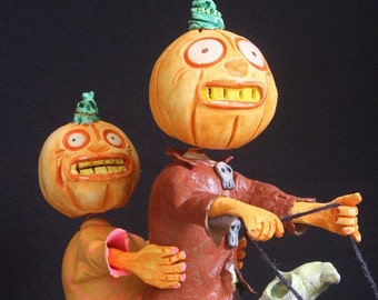 Pumpkins on Crow Decoy Candy Box