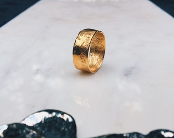 textured band rustic ring ringcrush gold wedding band unique wedding band - Unique Wedding Ring