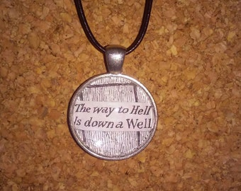 Edward Gorey Quote Pendant Necklace With 26-inch Adjustable Cord