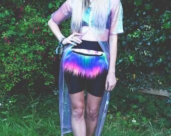 Unicorn Rainbow Faux Fur Bum Bag