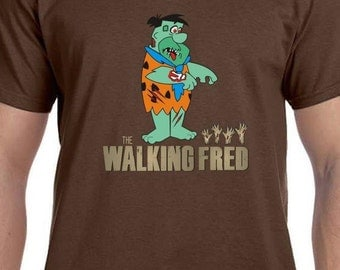 Mens and Womens The Walking Fred T Shirt Funny Tee Zombie Shirt Gift for Zombie Fan Gift for TV Show Buff TH009