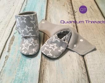 Custom Handmade Baby Booties, Choose your stars, Crib Shoes, Baby Girl Booties, Stay on baby booties, Baby shower gift, Baby Boy Booties