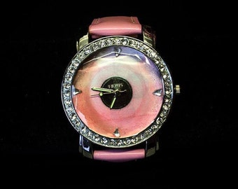 The 1975 pink vinyl watch