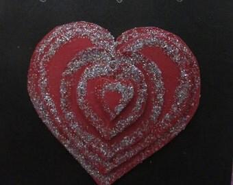 A handmade valentine card