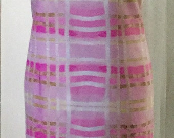 AD162-  Pink Plaid Dress