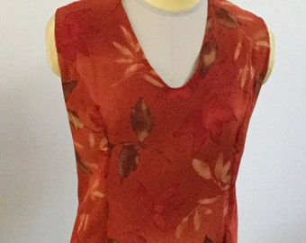 AD1633- Autumn Print Top