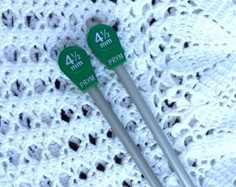 PRYM Knitting Needle, Size 4 1/2 Knitting Needle, Knitting Tool, Aluminum Knitting Needles