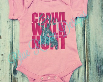 Crawl Walk Hunt Deer Infant Creeper One Piece Bodysuit
