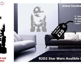 R2D2 star wars wall decal star wars wall sticker