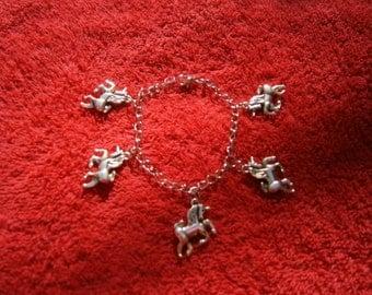 Unicorn charm chain bracelet