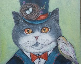Henri the Cat Painting