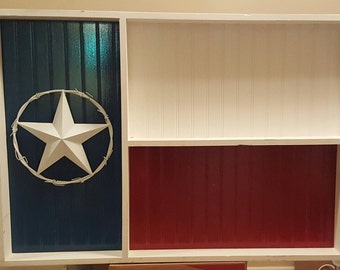 Texas flag shelf
