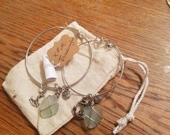 Seaglass Anchor of Love bracelet