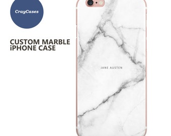 Custom Name iPhone 6 Case, Marble Phone case, personalised marble iPhone 6s case, 6 Plus, 6, 6s Plus, 7, cell phone cover (Shipped From UK)